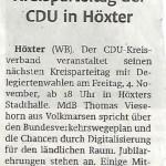 Kreisparteitag der CDU in Höxter
