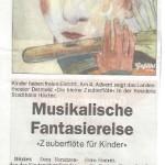 Zauberflöte Musikalische Fantasiereise Höxter